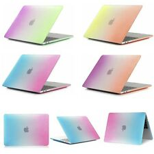 Rainbow Matte Rubberized Hard Shell Full Body Protect Case Cover For Macbook