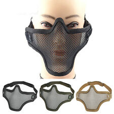 Mesh Half Face Mask Airsoft Mask Tactical Paintball CS Protective Gear Equipment