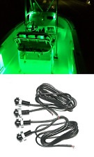 4x Green LED Boat Light Waterproof Outrigger Spreader Transom Underwater JetBoat