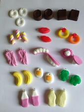 Lot 1 Fimo Sweet Charms Haribo Bundle Polo Ring Shrimps Teeth Egg Banana Frog 10