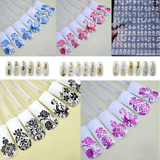 Nail Art Stickers Nail Water Decals Nail Transfers Lace Flowers Floral Evl