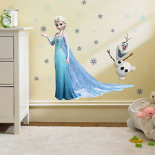 QUEEN ELSA Disney FROZEN Anna Decal Removable WALL STICKERS Home Decor Kids Gift