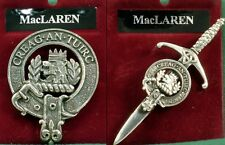MacLaren Scottish Clan Crest Badge or Kilt Pin Ships free in US