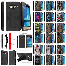 For Samsung Galaxy Express Prime J3 J310 Stand Clip Dual Layer Protective Case
