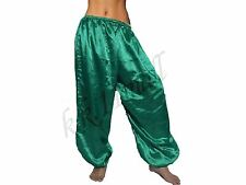 Satin Harem Pant Belly Dance tribal Costume Harem Yoga Pant Long Aladdin Patloon