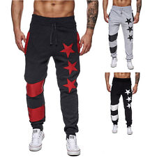 Mens Chic Jogger Dance Sportwear Baggy Print Pants Trainning Trousers Casual G