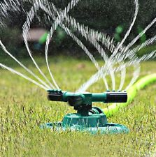 360° Flexible Rotating Lawn Sprinklers 3 Nozzles Pipe Grass Garden Watering SHER