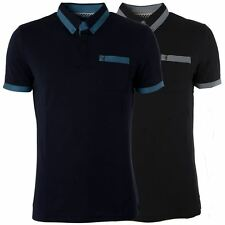 Gabicci Vintage Mens Polo Shirt Short Sleeved Button up Collared Top Sizes S-L