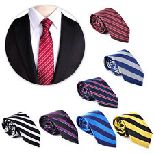 146*85cm Classic Striped Tie Business Men's Necktie Formal Party Ties Polyester