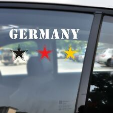 Germany Deutschland Flag Star German Football Weltmeister Car Decal Sticker