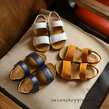 New Toddler Boys Girls Summer Leather Sandals Non-slip Beach Shoes Sandals Size
