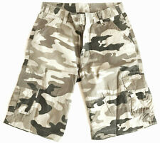 MENS RIP-STOP COMBAT SHORTS 100% Cotton Desert camo Army stonewashed para cargo