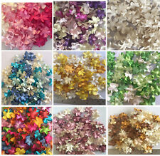 "100 X Blossoms Mulberry Paper Flowers 20 mm 0.7""  Embellishment Scrapbooking"