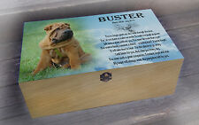 Personalised wooden memory gift box, in loving memory dog or any animal
