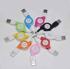1M Retractable USB Data Sync Charger Cable For iPhone 5 5C 5S 6 Plus iPod Touch