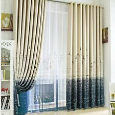 Castle of Shade Cloth Curtain for Blackout Screens Sheer Printed Window Curtain