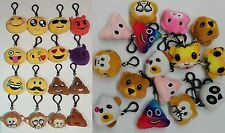 20pcs Emoji Keyring Amusing Yellow Cushion Stuffed Soft toy novelty Keychain