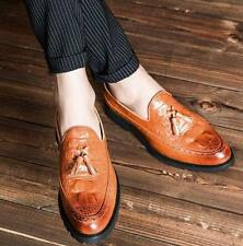 Fashion Mens pointy toe casual slip on dress formal shoes tassel loafer New Size