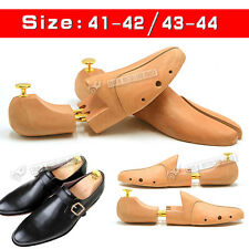 NEW Mens Quality Wood Double Tube Shoe Trees Wooden Shoe Trees Stretcher