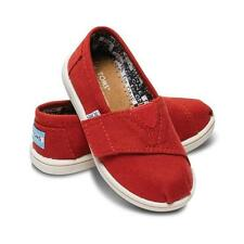 Toms Tiny Classics Red Canvas Toddlers New in Box