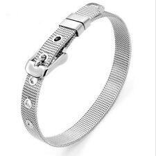 Wholesale, 8mm Stainless Steel Wristband Bracelet Fit 8MM Slide Charms Letters