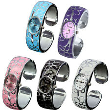 Fashion Flower Numeral Show Quartz Stainless Steel Band Bracelet Wrist Watch New