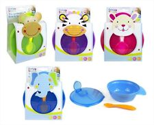 First Steps Travel Baby/Toddler Feeding Bowl With Lid & Spoon Set BPA Free