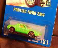 """181 Pontiac Fiero 2M4 uh Blue Card Hot Wheels """"Free Shipping"""" Options in Details"""