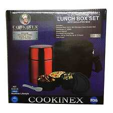 Insulated Lunch Box Set 11PC Vacuum Bento Tiffin Food Container Saver Hot Food