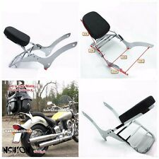Sissy bar backrest luggage rack to fit the Yamaha V Star 1100 XVS1100 racing sta