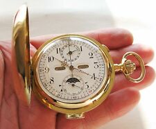 Very Rare Invicta Grand Complication 18K Minute Repeater Calender Pocket Watch