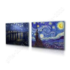 CANVAS (Rolled) Starry Night Over Rhone Vincent Van Gogh Set Of 2 Painting