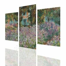 CANVAS (Rolled) Irises In Monets Garden Claude Monet 3 Panels Painting