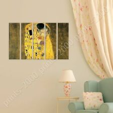 Alonline Art - POSTER Or STICKER Decals Vinyl The Kiss Gustav Klimt 5 Panels