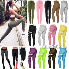 NEW Women Ladies Yoga Fitness Leggings Running Gym Stretch Sports Pants Trousers