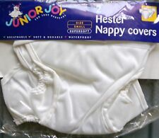 VALUE TWIN PACK: Junior Joy 'Hester' Reusable Nappy Covers/Wraps, BNIP - WHITE