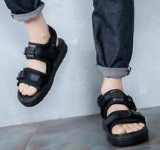 Mens Open Toe Mixed Color Casual flat Buckle Sports Roman Summer Sandals New YTK