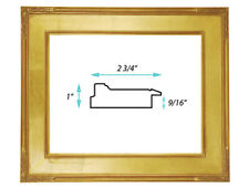 """Classic Plein Air Picture Frames Hand Applied Gold Leaf Finish 2 3/4"""" wide"""