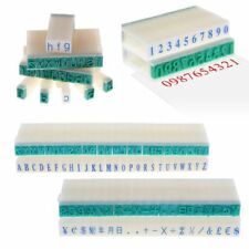 English Alphabet Letters Number Rubber Stamps Free Combination DIY Plastic Seal