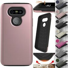Hybrid Slim Armor TPU+PC Protective Shockproof Hard Color Case Cover For LG G5