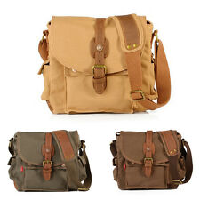 Vintage Mens Canvas Satchel Tote Bag Crossbody School Bag Shoulder/Messenger Bag