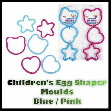3 x Egg Shapers Children's Novelty Silicone Egg Pancake Cookie Biscuit Mould