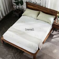 Homdox Bamboo Fiber Air Layer Mattress Protector Solid Multi sizes LM01