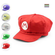 Luigi Super Mario Bros Cosplay Adult Size Hat Cap Baseball Costume UW05