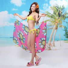 Sexy Beach Shawl Chiffon Swimwear Beach Dress Bikini Cover Up Sarong