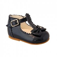 Traditional Spanish Sevva Sally hard soled shoes in navy blue, sizes 3 - 6!