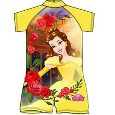 Girls Official Disney Belle Beauty And The Beast Surf-Suit Swimming Costume