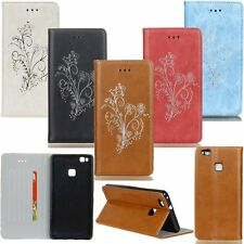 Flip Leather Wallet Card Stand Patterned Case Cover For Huawei Ascend P9/P9 Lite