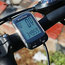 CoolChange Wired/Wireless LCD Cycling Bike Computer Bicycle Speedometer Odometer
