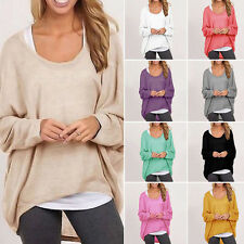 Fashion Women Lady Long Sleeve Casual Blouse Tops Loose Baggy Jumper Pullover